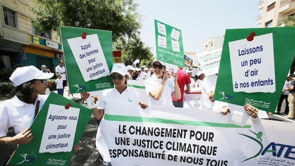 """Par Mohamed Chakir Alaoui et Mohsine El Mehdi le 17/07/2016 : """"Med-COP22: la société civile marche à Tanger pour une justice climatique"""""""